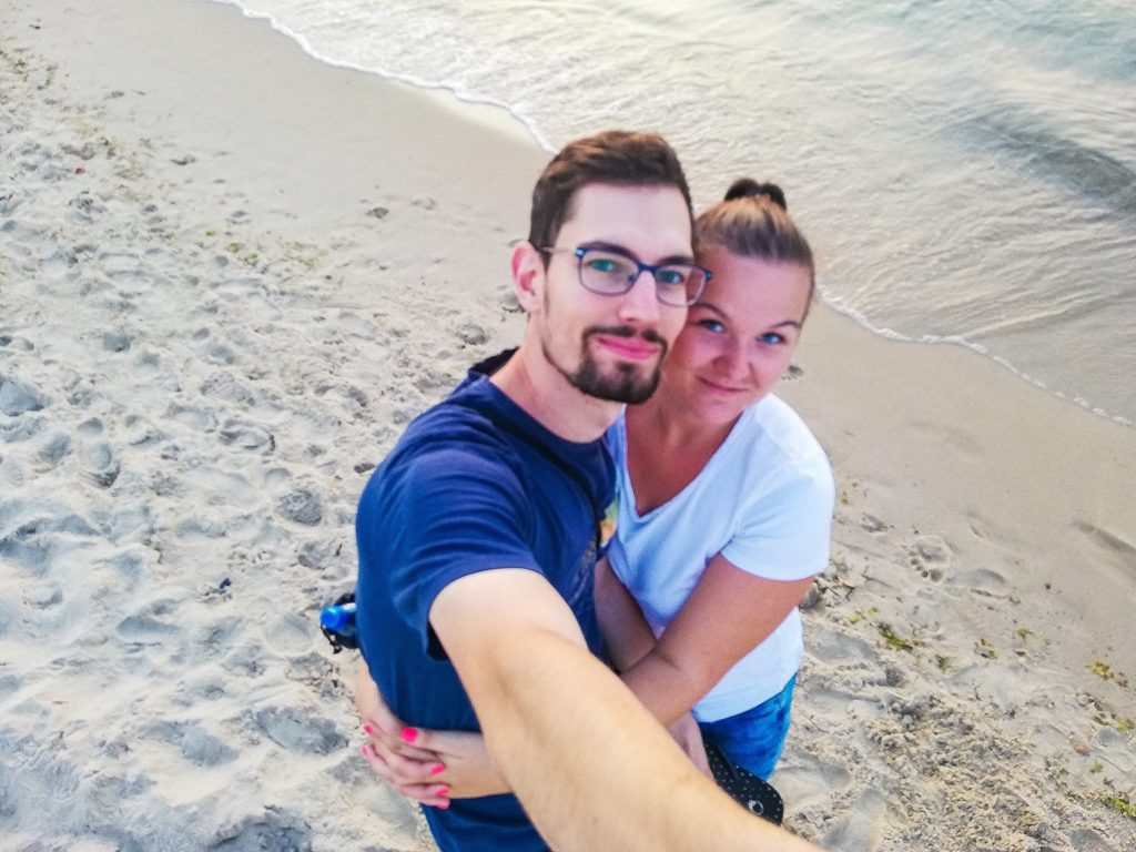 my na plaży w Międzyzdrojach