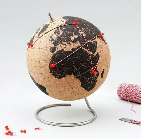 prezent dla podróżnika globus